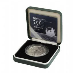 2005 Silver Proof Britannia Single With Certificate for sale